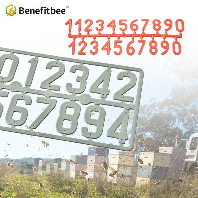 Benefitbee 3 pz/pacco Plastica Alveare Digitale Numero di Apicoltura Box Segno T