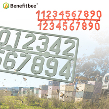 Benefitbee 3PCS/pack Plastic Beehive Sign Digital Number Box Sign Hive Mark tool Beekeeping Marking Board Beehive Numbers