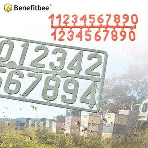 Image 1 - Benefitbee 3PCS/pack Plastic Beehive Sign Digital Number Box Sign Hive Mark tool Beekeeping Marking Board Beehive Numbers