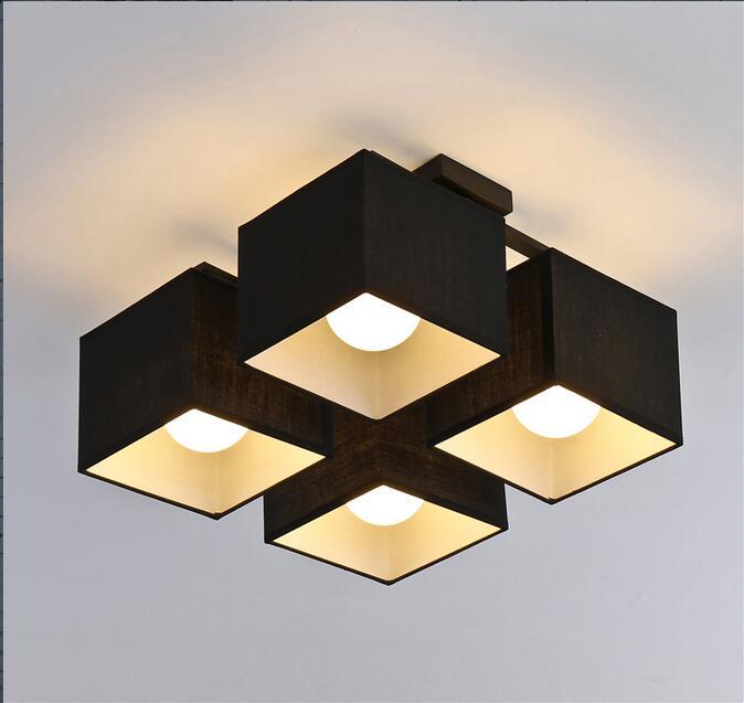 Stoff Kunst Tuch Led Deckenleuchte Nordic Deckenleuchten Moderne Wohnzimmer Lampe Schlafzimmer Beleuchtung In