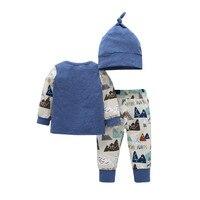 3Pcs Kids Clothing Set Newborn Baby Girl Boy Clothes Fashion Style Cute Infant Baby Romper Long