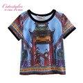 Novo Estilo Bonito Meninos T-Shirt Impressão Crianças Tops Roupas Menino BT90318-16L