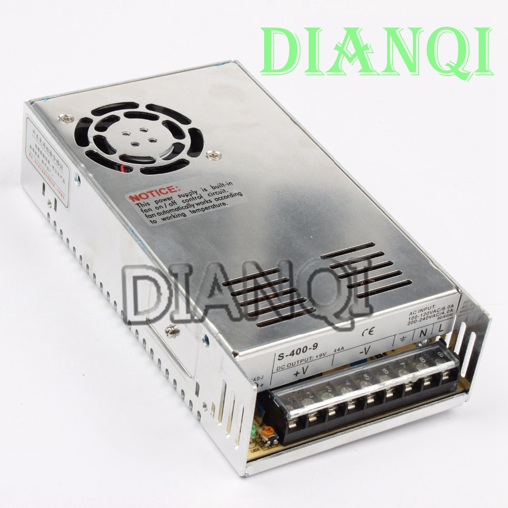цена на DIANQI power suply 9v 400w ac to dc power supply ac dc converter high quality S-400-9