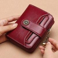 Fashion Short Mini Wallets Designer Women Purse Zipper Split Coin Pocket Card Holder