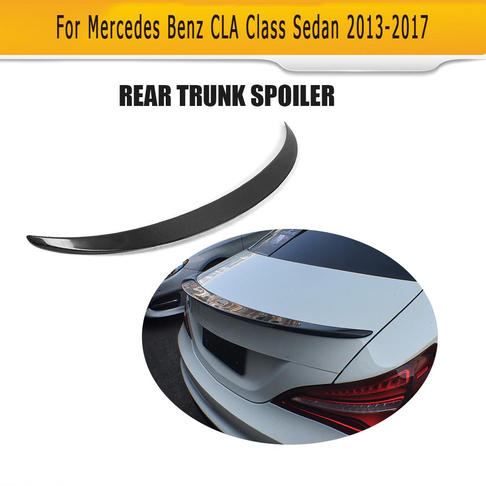 Carbon Fiber Racing Rear Spoiler Wing for Mercedes Benz CLA Class W117 C117 CLA180 CLA200 CLA250 CLA45 AMG Sedan 2013-2017 цена