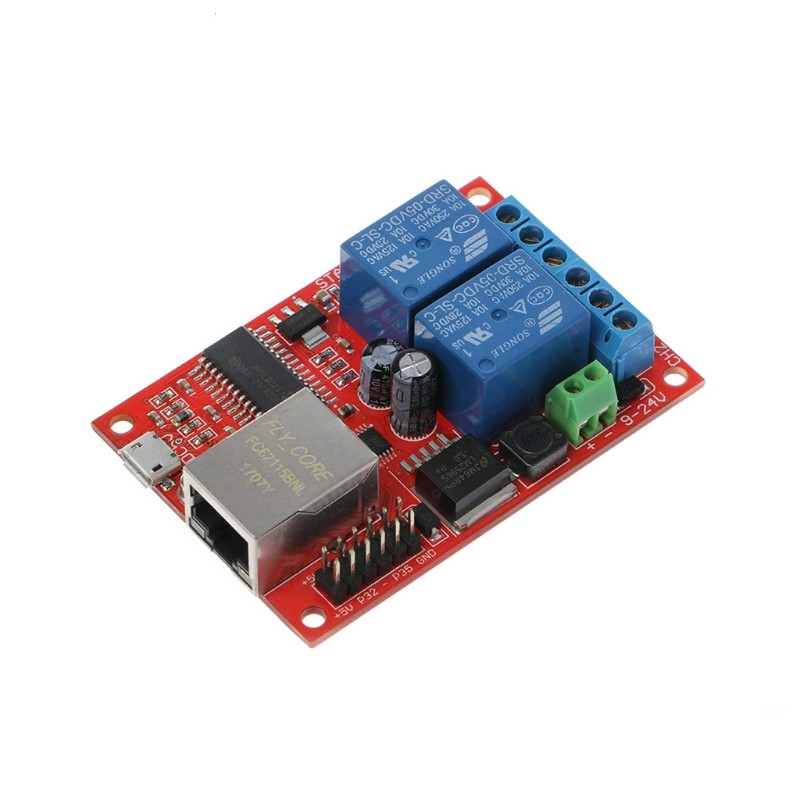 LAN Ethernet 2 Way Relay Board Delay Switch TCP/UDP Controller Module WEB Server lan ethernet 2 way relay board delay switch tcp udp controller module web server n27