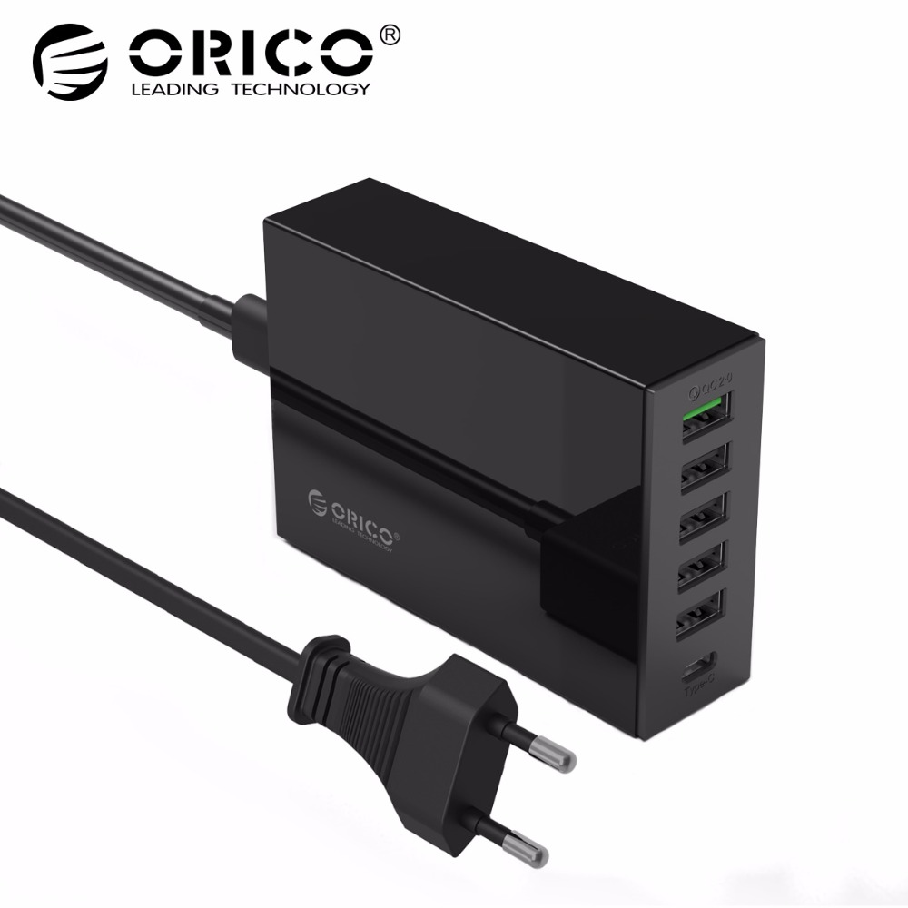 ORICO TSL-6U USB Charger Type-C QC2.0 Qu