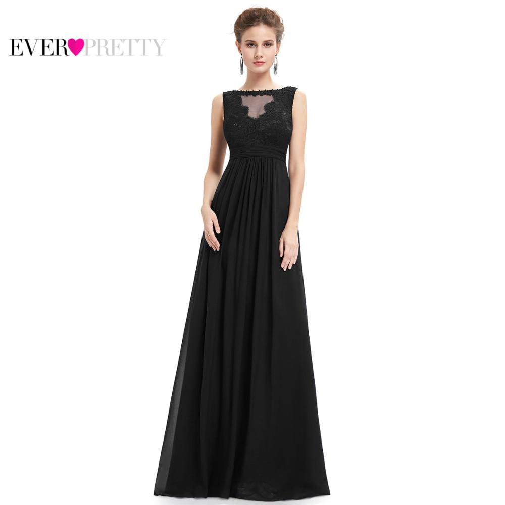 1818c41b89d43 US $22.94 49% OFF|Formal Evening Dresses Ever Pretty 2018 New Women Elegant  Sleeveless EP08715 Empire Long Lace Prom Special Occasion Party Gowns-in ...