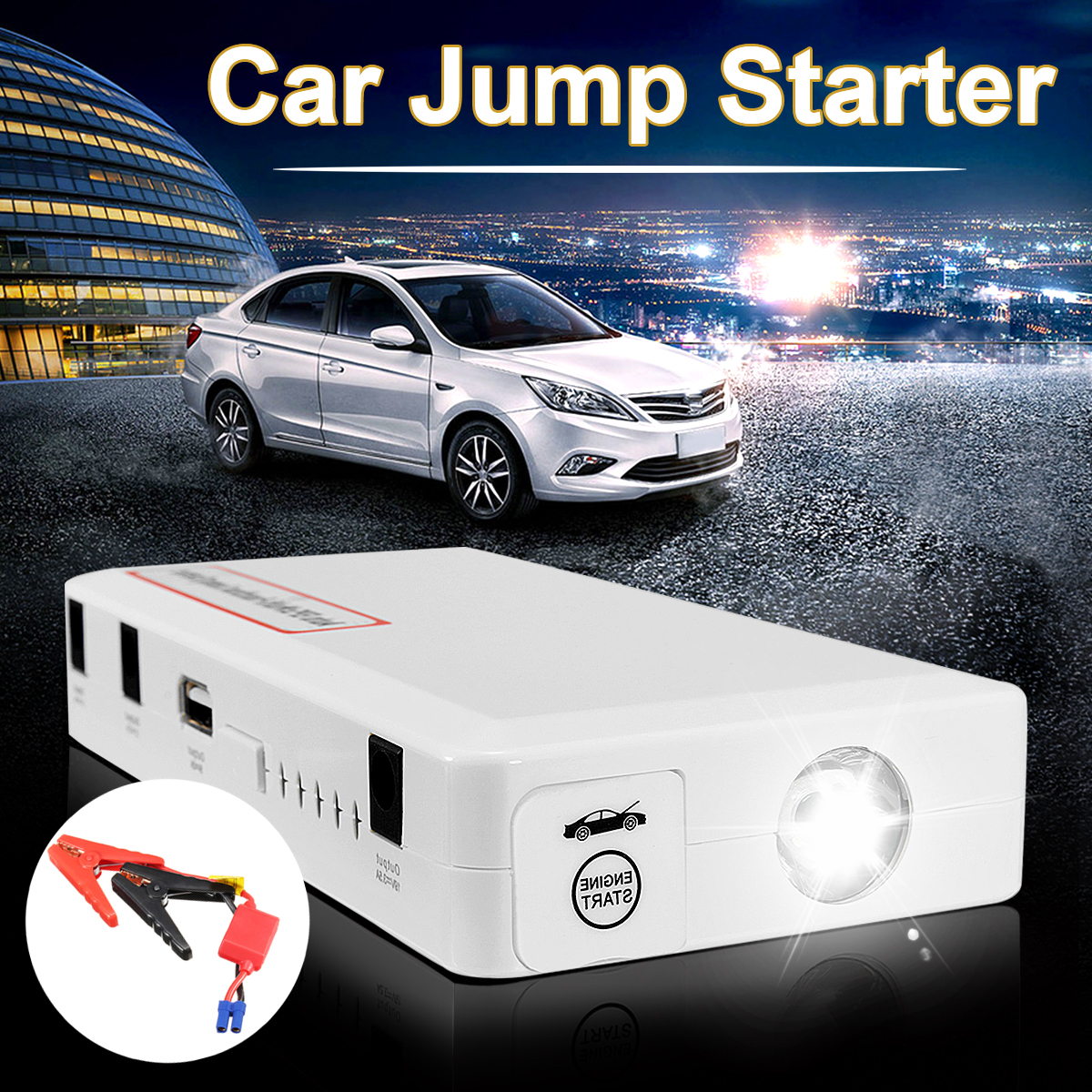 30000mAh 2 USB Portable Car Jump Starter Vehicle Emergency Power Bank Multifunction Car Battery Booster Charger Starting Devices practical 89800mah 12v 4usb car battery charger starting car jump starter booster power bank tool kit for auto starting device
