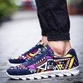 Casual shoes men canvas shoes 2016 fashion breathable geometry shoes men