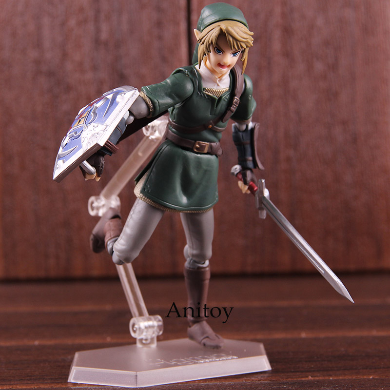 Anime Figma 320 Link Twilight Princess Ver. DX Edition The Legend of Zelda Figure Action PVC Collectible Model Toy