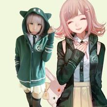 Super DanganRonpa Chiaki Nanami Cosplay Uniform Jacket Shirt font b Skirt b font Anime Halloween Cosplay