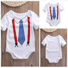 New Infant Clothes Baby Rompers tie print Newborn Babies Boy Girls Costume Cotton Jumpsuit Outfit Clothes
