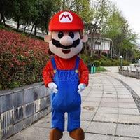 Anime Cartoon Super Mario Luigi Mascot Costume Halloween Party Dress For Adult Role Play