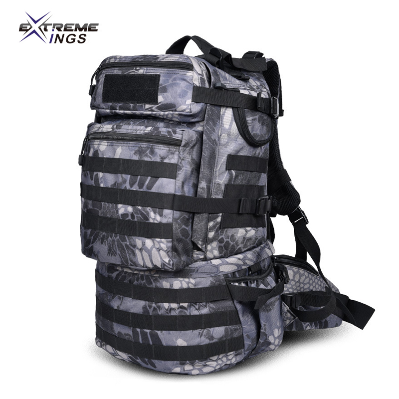 Army Camouflage Outdoor military mountaineering Tactical bag shoulder school computer bag travel men s backpack large