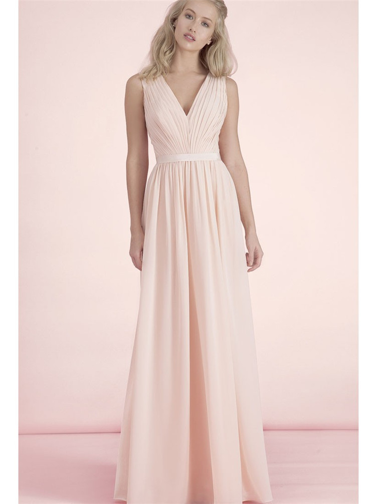 Popular Light Pink Chiffon Bridesmaid Dresses-Buy Cheap Light Pink ...