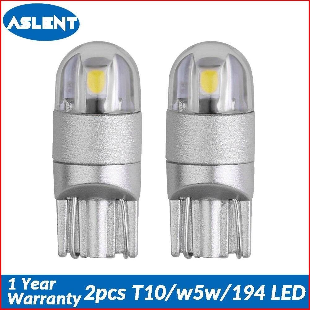 2 stücke T10 W5W 194 LED 3030SMD Auto Glühbirnen Auto Lampe Clearance Pause Drehen Lesen Lichter Ice blau weiß rot gelb 12v
