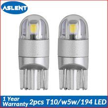 Aslent 2pcs T10 W5W 194 LED 3030SMD Car Light Bulbs Auto Lamp Clearance Break Turn Reading Lights Ice blue white red yellow 12v