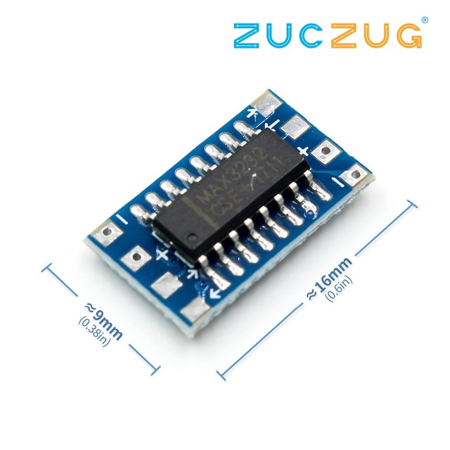 mcu mini rs232 to ttl converter adapter board module max3232 3 5 vmcu mini rs232 to ttl converter adapter board module max3232 3 5 v electronic parts development serial port for arduino diy kit