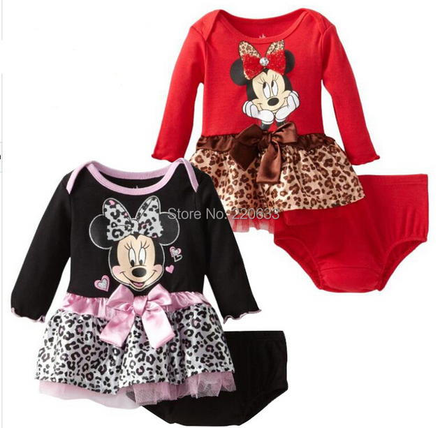Minnie,new 2016,baby girls dress,bebe,chirdren girl princess dress, baby girl's clothes,2 pcs clothing set