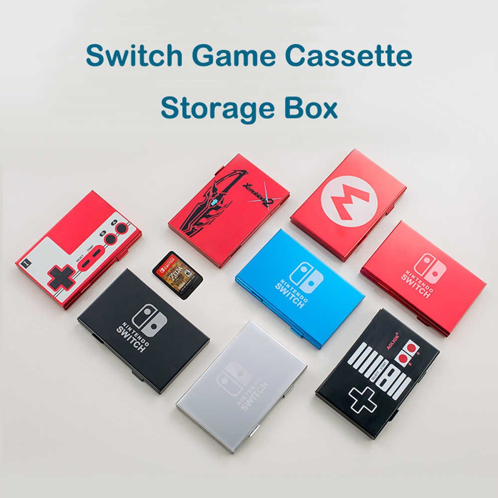 10 in 1 Draagbare NS Schakelaar Game Kaart en TF Card Storage Cassette Case Voor DN Nintendo Switch Shockproof Hard shell Opbergdoos