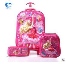 Kids Trolley Case kids School Trolley bag on wheels Mochila Student travel luggage case children s