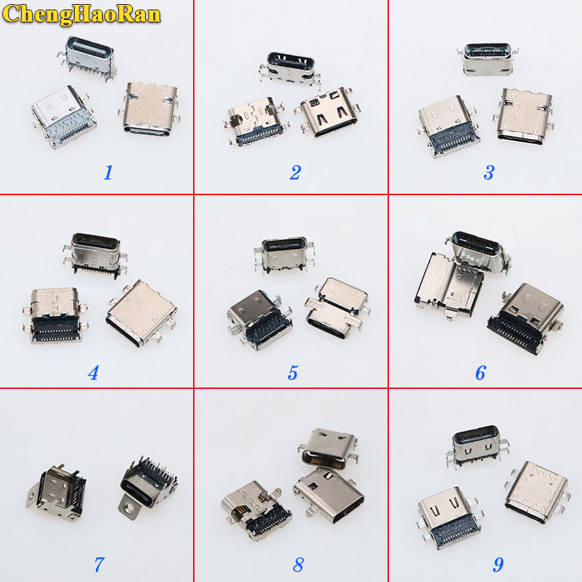 ChengHaoRan Data Interface Micro 3.1 Usb JACK DIY Type-C USB 3.1 Type C Female Socket Connector Charge Dock Port Plug