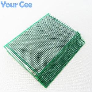 Image 1 - 10 pcs 8X12 cm 8*12 cm ضعف الجانب نموذج pcb اللوح العالمي المطبوعة لوحة دوائر كهربائية لاردوينو 1.6mm 2.54mm الألياف الزجاجية