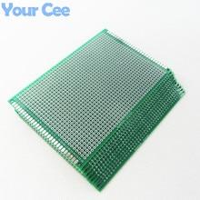 10 sztuk 8X12 cm 8*12 cm dwustronnie prototypowa płytka drukowana deska do krojenia chleba uniwersalne drukowane płytka drukowana dla Arduino 1.6mm 2.54mm z włókna szklanego