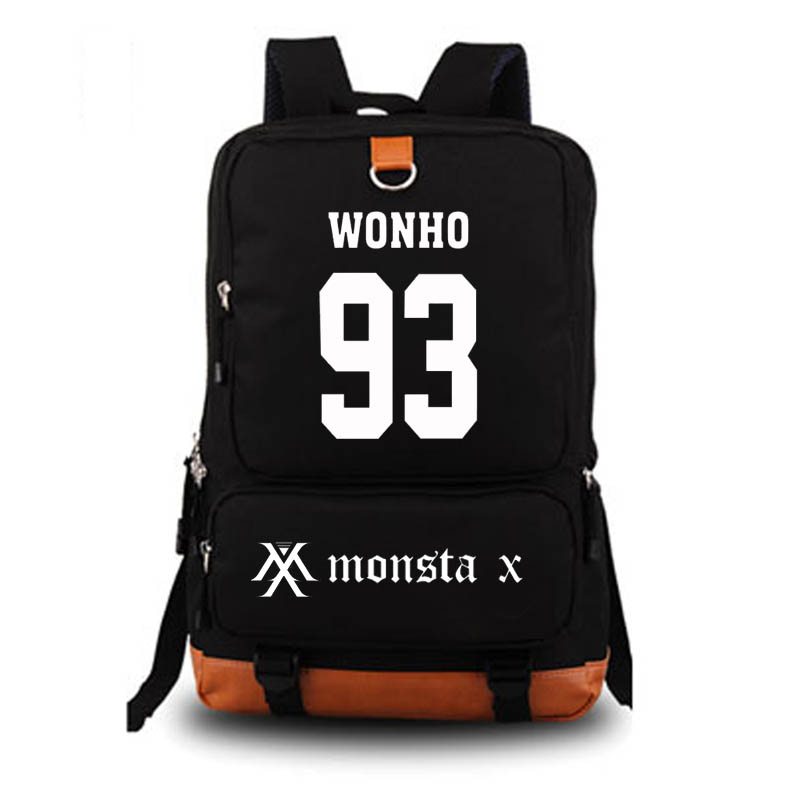 monsta x backpack student school bag Notebook backpack Daily backpack travel rucksack