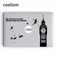Peter Pan Flying To Mysterious Island Laptop Decal For Apple MacBook Air 13 Sticker Pro Retina