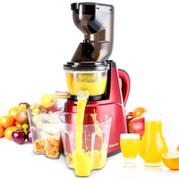 Large wide diameter electric juicer slow speed large caliber Extractor nutrition fruit Vegetable orange juice machine EU US plug