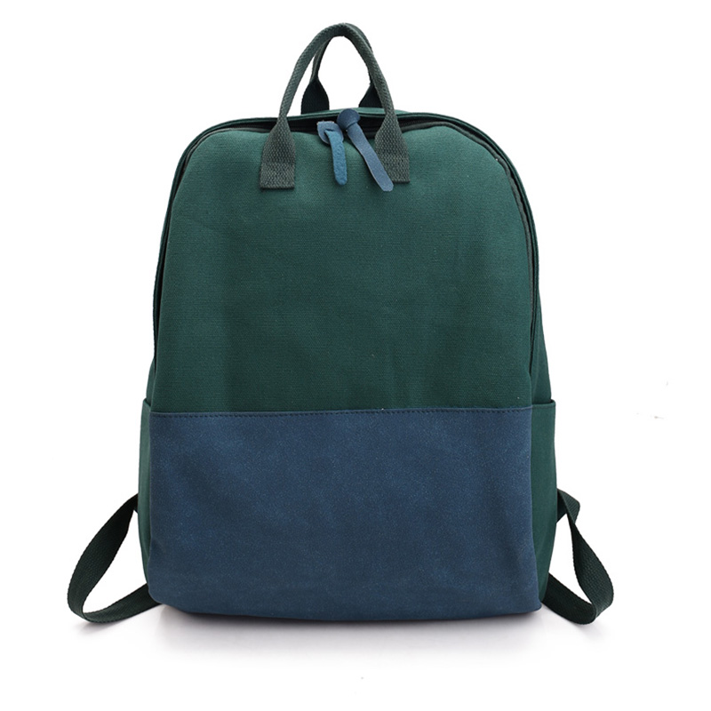Large Canvas Backpacks Suede Patchwork Canvas School Girls Travel Holiday Bags Nbxq213