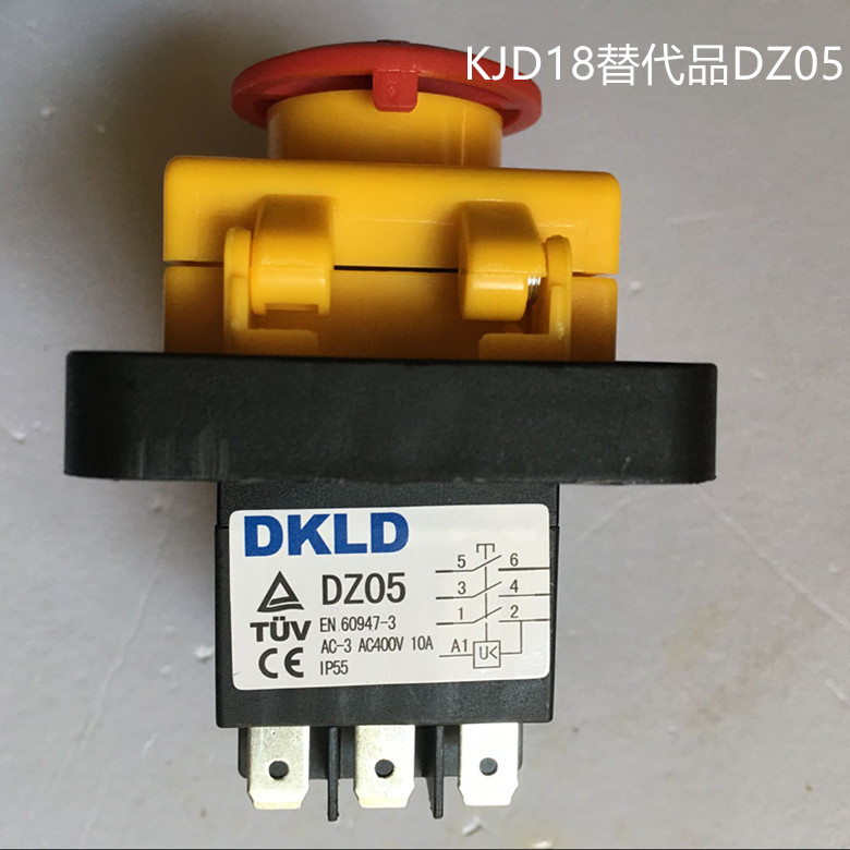5pcs Switch DZ05 genuine 10A instead of general electromagnetic switch KJD18 with emergency stop cover KEDU three-phase 380V10A рекламный щит dz 5 1 j1a 230 jndx 1 s a