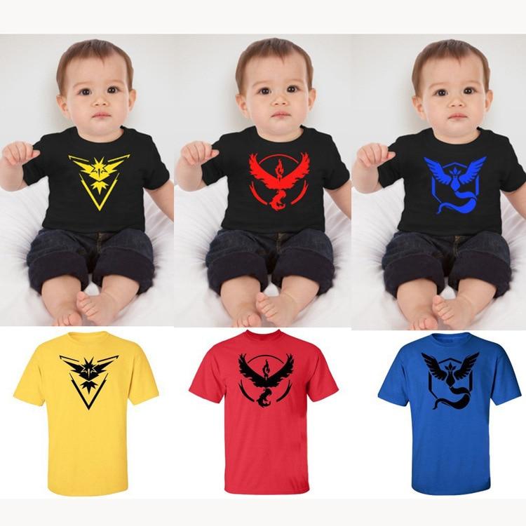 3-9 T Baby Pokemon Go Kids T-shirt For Boys Girls Tops Tee T shirt Costume Children Clothing Toddlers Summer Pokemon Printer