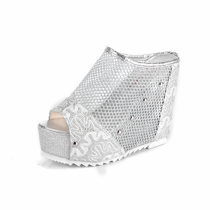 Free Shipping Womens Sandals Flat Summer 2018 Wedge Platform Sandals Ladies High Heel Gladiator Sandals Slipper Sandalen Dames in High Heels from Shoes
