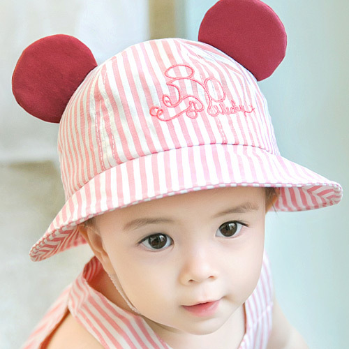 9d08929aa51 Summer Cotton Infant Baby Hat Sun Cap Outdoor Toddler Kids Summer Hat with  Ear Baby Girls Boys Beach Bucket Hat for 0 12M-in Hats   Caps from Mother    Kids ...