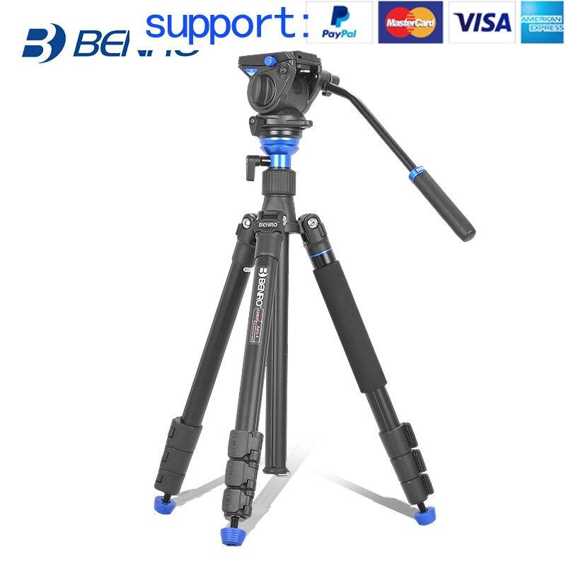 Benro AERO 4 A2883FS4 trépied Vidéo Trépied Kit Professionnel En Aluminium Pour Vidéo Caméra Vidéo à Double usage