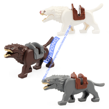 New Single Sale Legoingly Lord of the Rings Wolf Knight Wolf Horse Wolf Figures Bricks Building Blocks Bricks Action Gift Toys strap