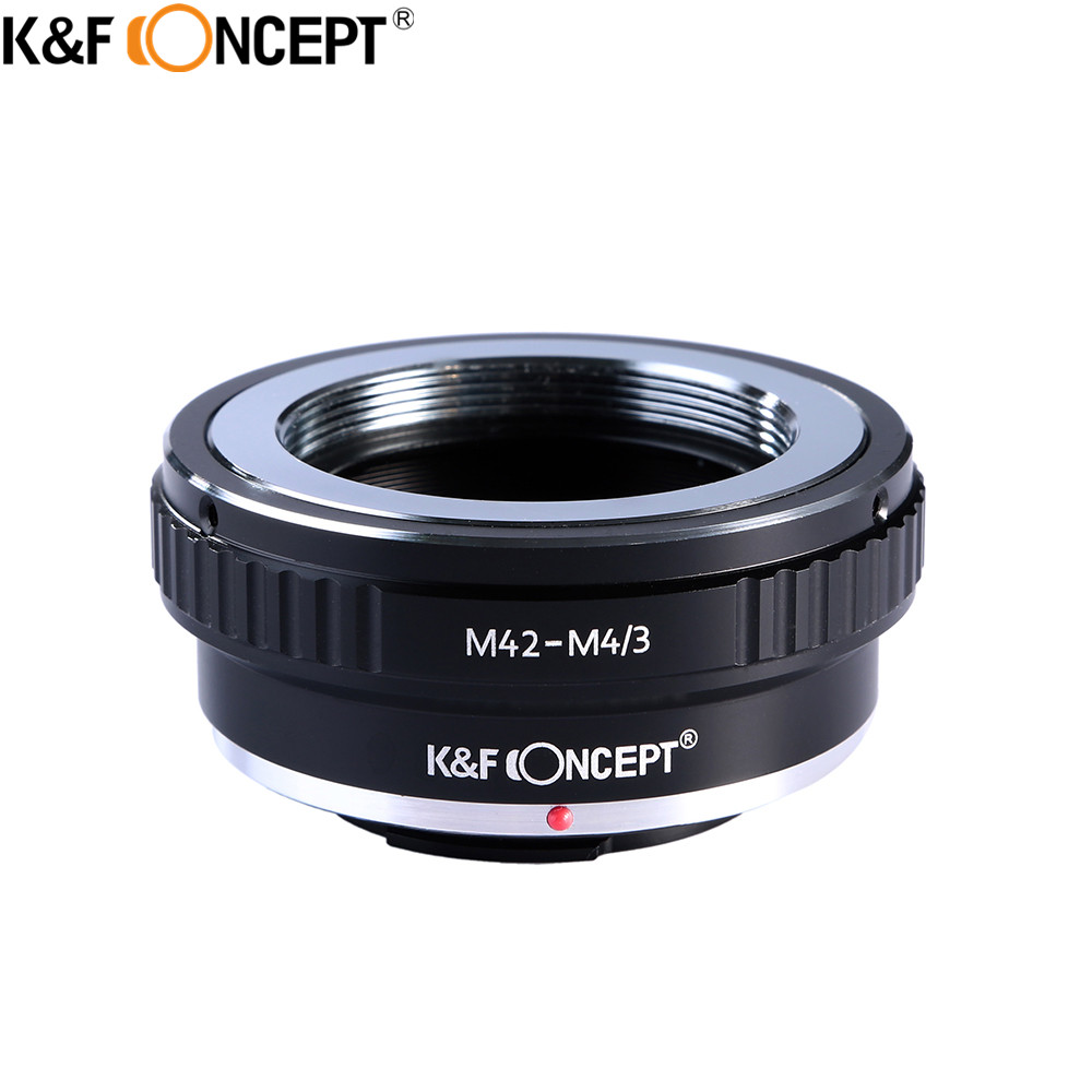K&F CONCEPT Camera Lens Adapter Ring for M42 Screw Mount Lens to Micro 4/3 For Olympus Panasonic G5 GF1 GF2 GF3 E-P2/3/5 fotga lens adapter high quality adapter ring for m42 lens to micro 4 3 mount camera for olympus panasonic dslr camera