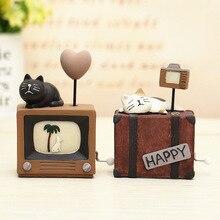 Handmade Cats Music Box Kids Toy Musical