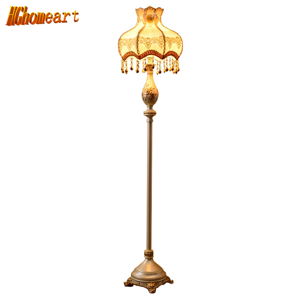 Hghomeart High Quality Retro Style Led Floor Lamp Living Room E27 Bulb Luxurious Bedroom Design Led Modern Floor Lighting Lamps modern 9w 12w 15w led floor lamp remote dimmable stand lights living room piano reading standing lighting led floor lighting