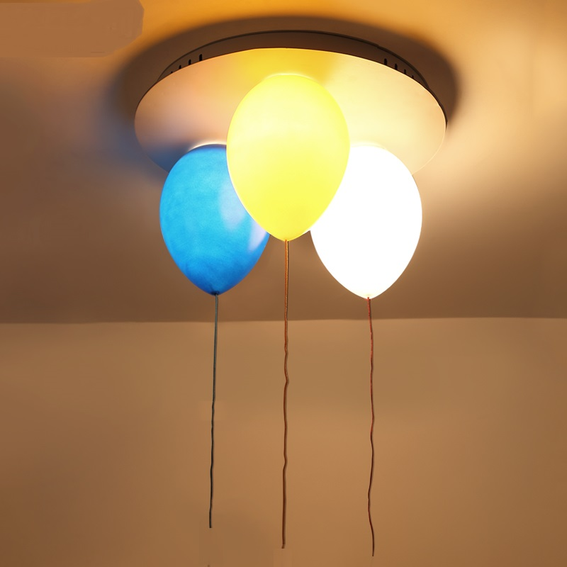Children toy modern ceiling lamps color balloon ceiling lights living room bedroom children's room balcony lighting TATA10172 [ygfeel] ceiling lights modern simplicity novelty color balloon shape home restaurant living room lighting children bedroom lamp