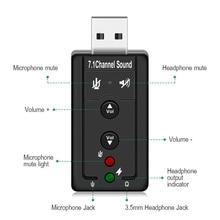 GOOJODOQภายนอกUSB AUDIO SOUND CARD ADAPTER VIRTUAL 7.1 ch USB 2.0ไมค์ลำโพงเครื่องเสียงชุดหูฟังไมโครโฟน3.5มิลลิเมตรแจ็คแปลง