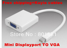Free Shipping Brand new Mini displayport DP Male to VGA Cable Adapter  Converter