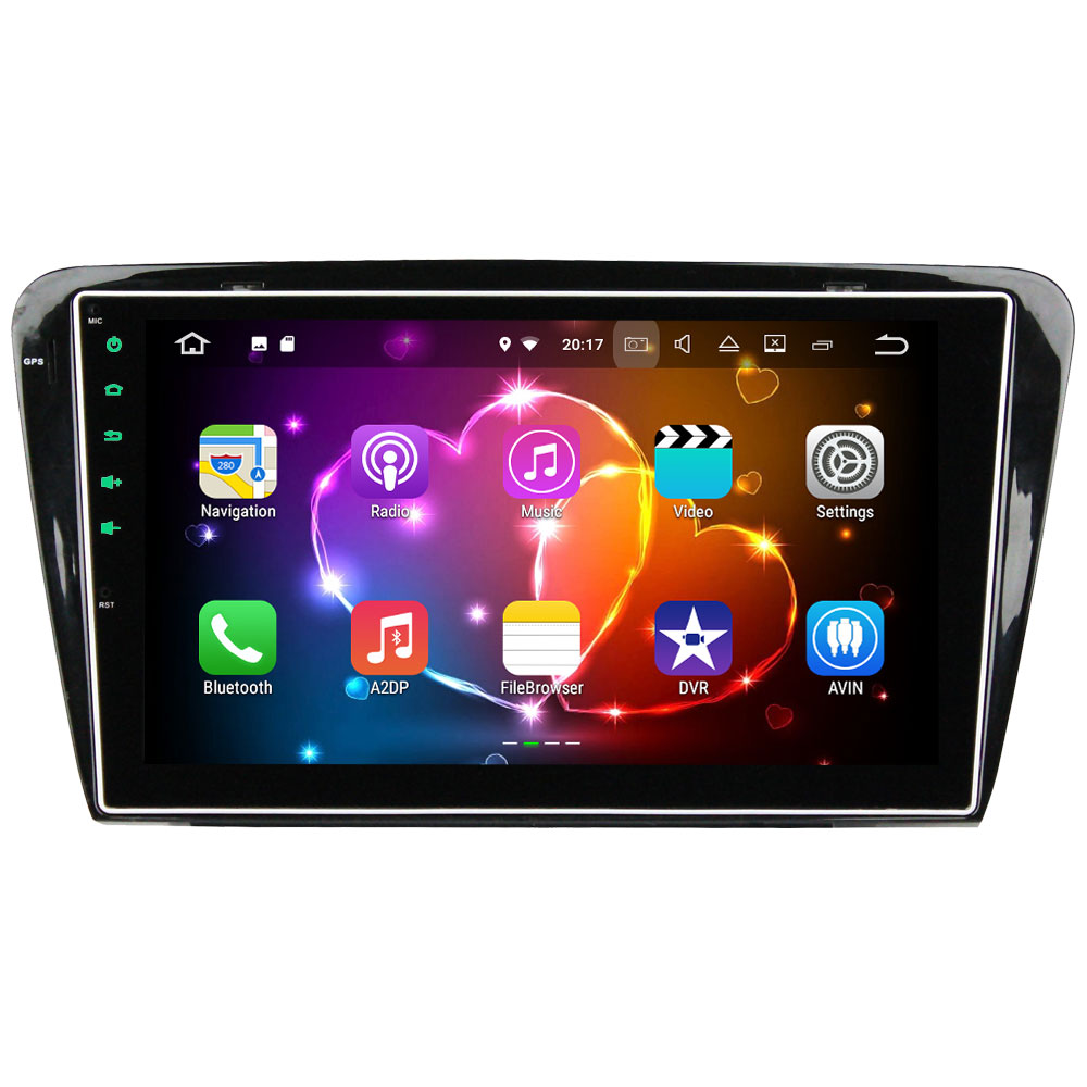 Quad Core 2GB RAM 16GB ROM Android 7.1.2 Stereo GPS Navigation 1 Din Multimedia Car Player 1024*600 for Skoda Octavia 2014-2015