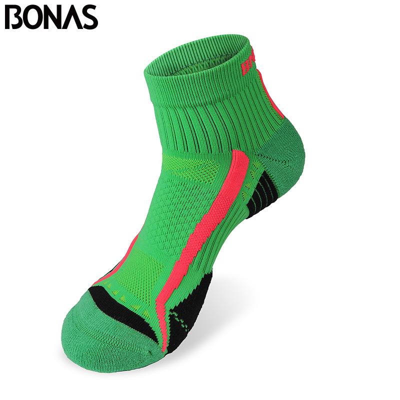 Bonas Men CoolMax Polyester Short Socks High Quality Colorful Casual Adult Style Socks Autumn Fashion Quick Dry Tide Brand Socks
