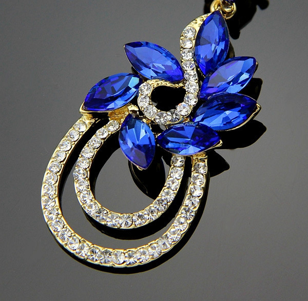 374cfc837cc2eb 2 inch New Drop 18K Gold Big Crystal Royal Blue Earrings Statement Indian  Boho Style-in Drop Earrings from Jewelry & Accessories on Aliexpress.com |  Alibaba ...