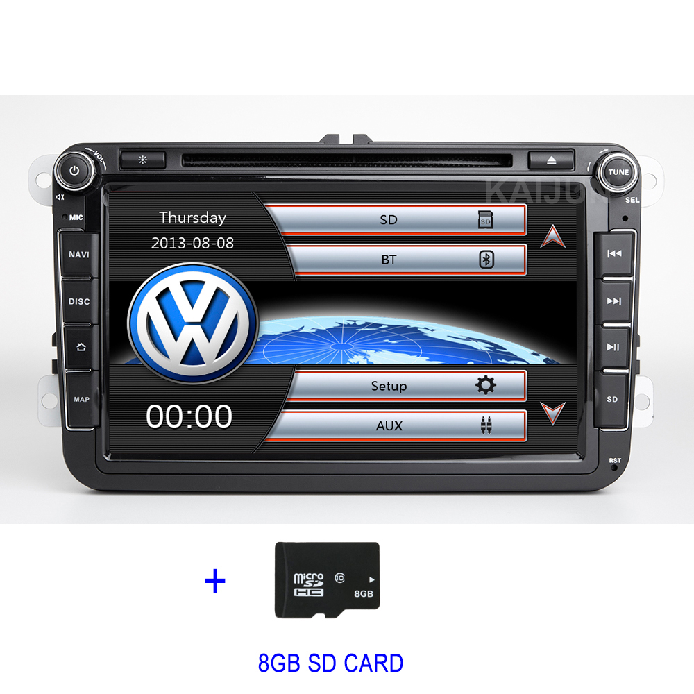 8 car dvd player radio gps for volkswagen vw golf 5 6 passat cc b5 b6 b7 jetta touran tiguan. Black Bedroom Furniture Sets. Home Design Ideas