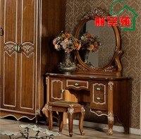 Белый европейский зеркало стол французский мебель 07